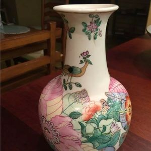 PORCELAIN FLORAL VASE HEIGHT 9""